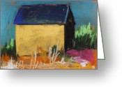 Expression Pastels Greeting Cards - Horse Farm Barn Greeting Card by John  Williams