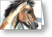 Amimal Greeting Cards - Horse-Jeremy Greeting Card by Go Van Kampen