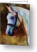 Contemporary Horse Digital Art Greeting Cards - Horse of Colour Greeting Card by Michelle Wrighton
