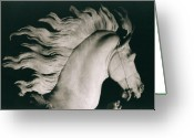 Formerly Greeting Cards - Horse of Marly Greeting Card by Coustou