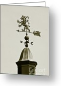 Weathercock Greeting Cards - Horse Weathervane In Sepia Greeting Card by Ben and Raisa Gertsberg