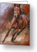 Horses Art Print Greeting Cards - Horse2 Greeting Card by Arthur Braginsky