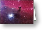 Horsehead Greeting Cards - Horsehead Nebula Greeting Card by Mpia-hd, Birkle, Slawik
