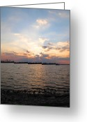 Sunset Framed Prints Greeting Cards - Horseshoe Lake Sunset Greeting Card by Ann Willmore