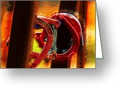 Piercing Greeting Cards - Horseshoe Rift Greeting Card by Bill Tiepelman