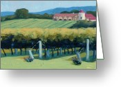 Food And Beverage Painting Greeting Cards - Horton Vineyards Greeting Card by Christopher Mize