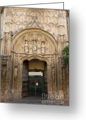 Door Sculpture Greeting Cards - Hospital of San Sebastian Archway Greeting Card by Artur Bogacki