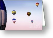 Balloon Fiesta Greeting Cards - Hot Air Greeting Card by Angel  Tarantella