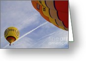 Colored Photographs Greeting Cards - Hot-air Balloning Greeting Card by Heiko Koehrer-Wagner