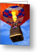 Wicker Greeting Cards - Hot Air Balloon Greeting Card by Carlos Caetano
