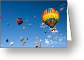 C Casch Greeting Cards - Hot Air Balloon Festival Greeting Card by C Casch