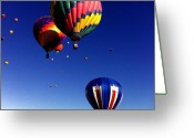 Balloon Fiesta Greeting Cards - Hot Air Balloons Greeting Card by Jera Sky