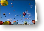 C Casch Greeting Cards - Hot Air Balloons Lifting Off Over Reno Greeting Card by C Casch