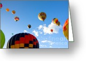 C Casch Greeting Cards - Hot Air Balloons Over Reno Greeting Card by C Casch