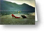 Ladies Photo Greeting Cards - Hot And Red Greeting Card by Joana Kruse