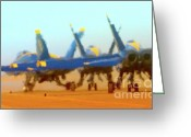 Superhornet Greeting Cards - Hot Blues Greeting Card by Gus McCrea