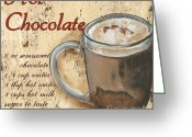 Old Painting Greeting Cards - Hot Chocolate Greeting Card by Debbie DeWitt