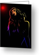 Curves Greeting Cards - Hot Light Greeting Card by Stefan Kuhn