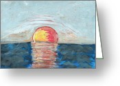 Exhibitionist Greeting Cards - Hot Rising Sun Greeting Card by Barbara Krebs