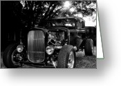 Model A Greeting Cards - Hot Rod - Ford Model A Greeting Card by Bill Cannon