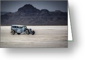 Motorcycle Photo Greeting Cards - Hot Rod Bonneville Salt Flats 2012 Greeting Card by Holly Martin
