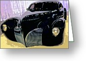 Lowered Greeting Cards - Hot Rod Greeting Card by Michael Pickett