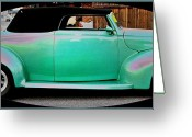 Seafoam Greeting Cards - Hot Rod Greeting Card by Molly McPherson