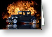 Flood Greeting Cards - Hot Rod Greeting Card by Patricia Stalter
