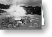 Sleeping Volcano Greeting Cards - Hot spring in Azores Greeting Card by Gaspar Avila