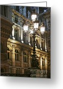 Europe Greeting Cards - Hotel de Ville in Paris Greeting Card by Elena Elisseeva
