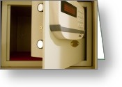 Valuable Greeting Cards - Hotel In-room Safe With Open Door. Greeting Card by Mark Williamson