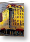 Phoenix Pastels Greeting Cards - Hotel San Carlos Greeting Card by Sandra Ortega