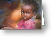 Portrait Greeting Cards - Hour Of Need Greeting Card by Bob Salo