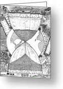 Stippling Greeting Cards - Hourglass Greeting Card by Glenn McCarthy Art and Photography