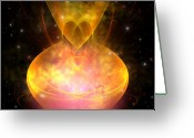 Plasma Greeting Cards - Hourglass Nebula Greeting Card by Corey Ford