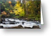 Serenity Greeting Cards - Housatonic River Greeting Card by Bill  Wakeley
