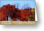 Sunny Days Greeting Cards - House Afire Greeting Card by Mike Justice