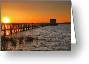 Sunset Framed Prints Photo Greeting Cards - House At The End Of The Pier III Greeting Card by Steven Ainsworth