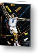 Julius Erving Greeting Cards - House Call Greeting Card by Wayne LE ONE