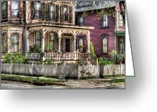 Neighborhood Greeting Cards - House - Country Victorian Greeting Card by Mike Savad