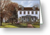 Usa Painting Greeting Cards - house Du Portail  Greeting Card by Guido Borelli