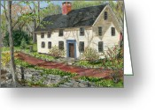 Carversville Greeting Cards - House in Carversville Greeting Card by Margie Perry