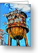 Motorcycle Art Greeting Cards - House of Blues Orlando Greeting Card by Corky Willis Atlanta Photography
