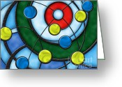 Hit Digital Art Greeting Cards - House of Glass Greeting Card by Chris Rhynas