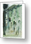 Traffic Greeting Cards - House On Barton Street Greeting Card by Bob Salo