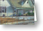 House Pastels Greeting Cards - House on Cherokee Street Greeting Card by Donald Maier