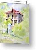 Georgia Greeting Cards - House on Jones Street Greeting Card by Sam Sidders