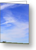 Interesting Greeting Cards - House on the Hill Greeting Card by Mike McGlothlen