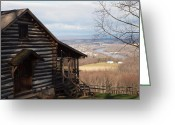 Log Cabin Photographs Greeting Cards - House On The Hill Greeting Card by Robert Margetts