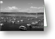 Sandstone Bluffs Greeting Cards - Houseboat Community Greeting Card by Chad Bennett
